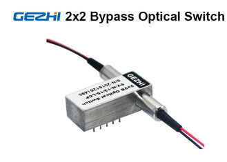Chiny 2x2 Bypass Mechanical Fiber Optic Switch 1310 / 1550nm Latching OXC system dostawca