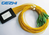 Chiny LAN / WAN Mini Module Fiber Optic PLC Splitter blockless 0.9mm with SC / UPC Connector fabryka