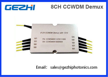 Chiny 8CH CWDM Mux Demux CCWDM Module Compact Coarse Wavelength Division Multiplexer fabryka