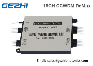 Chiny 18 CH CCWDM Mux / DeMux MODULE Optical Passive Multiplexer Components fabryka