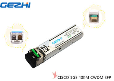 Chiny 1GE CWDM CISCO SFP Modules 40KM 1270~1610nm DDM/DOM Hot pluggable SFP Footprint dystrybutor