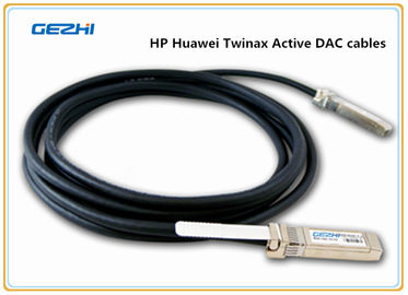 Chiny HP Huawei 10G SFP+ Copper Twinax Active DAC cables , SFP+ to SFP+ TWINAX dystrybutor