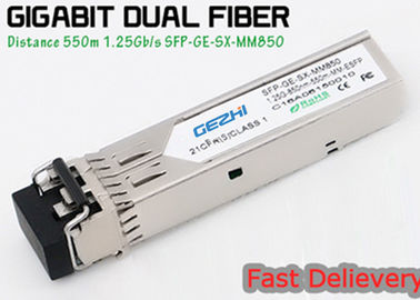Chiny 1.25G 850nm Fp 550m Lc Mmf Small Form Factor Pluggable Transceiver Fcc Compliant Sfp fabryka