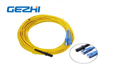 Chiny LC / APC Patch Cord MT - RJ to SC Singlmode Duplex Zipcord Without Clip Yellow fabryka