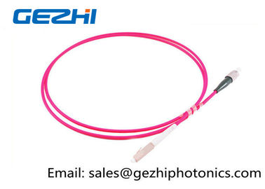 Chiny LC / PC - FC / PC Optic Patch Cord Jumper OM4 50/125um Multimode LSZH 2M Pink Jacket fabryka